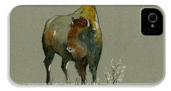 American Buffalo IPhone 4 Case by Juan  Bosco