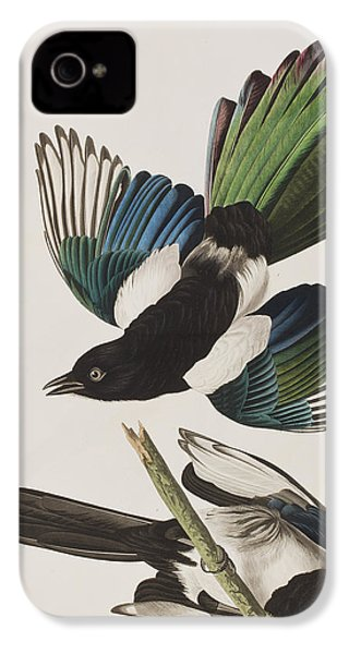 American Magpie IPhone 4 Case by John James Audubon