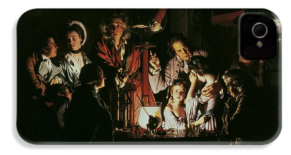 An Experiment On A Bird In The Air Pump IPhone 4 / 4s Case by Joseph Wright of Derby