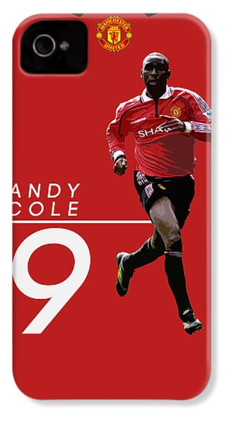 Andy Cole IPhone 4 Case by Semih Yurdabak
