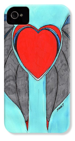 Angel Heart IPhone 4 Case by Ronald Woods