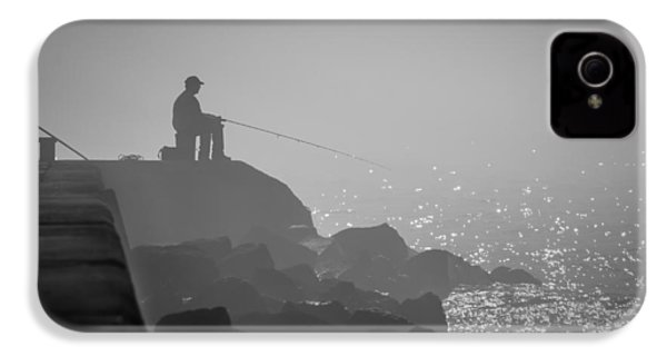 Angling In A Fog  IPhone 4 Case by Bill Pevlor