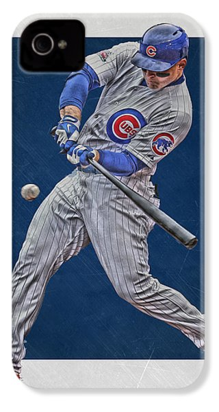 Anthony Rizzo Chicago Cubs Art 1 IPhone 4 / 4s Case by Joe Hamilton