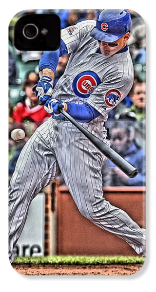 Anthony Rizzo Chicago Cubs IPhone 4 / 4s Case by Joe Hamilton