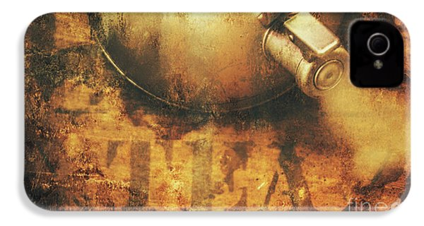 Antique Old Tea Metal Sign. Rusted Drinks Artwork IPhone 4 Case