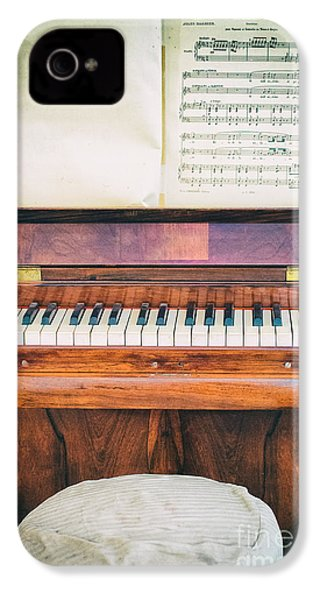 IPhone 4 Case featuring the photograph Antique Piano And Music Sheet by Silvia Ganora