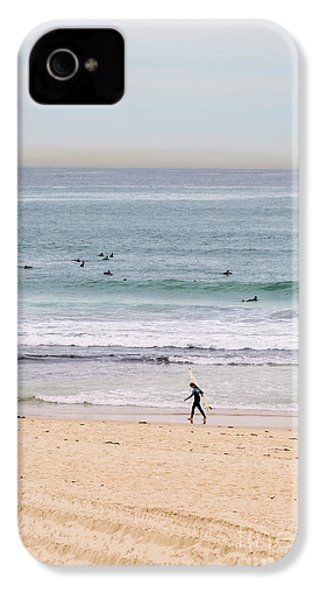 IPhone 4 Case featuring the photograph Any Day's A Good Day To Surf by Linda Lees