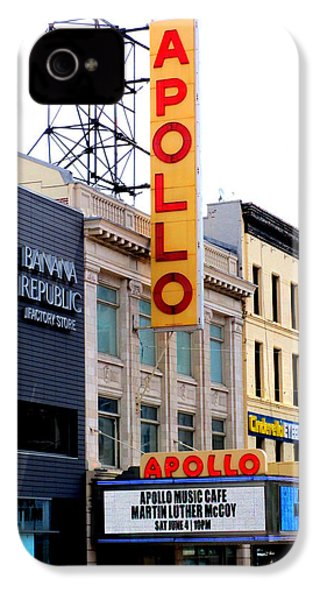 Apollo Theater IPhone 4 Case by Randall Weidner