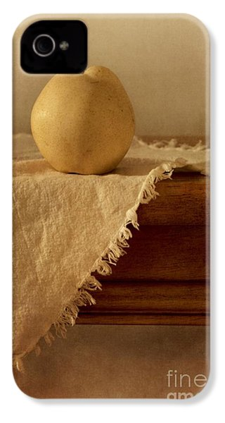 Apple Pear On A Table IPhone 4 Case by Priska Wettstein