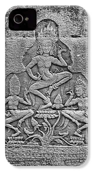 IPhone 4 Case featuring the photograph Apsaras 3, Angkor, 2014 by Hitendra SINKAR