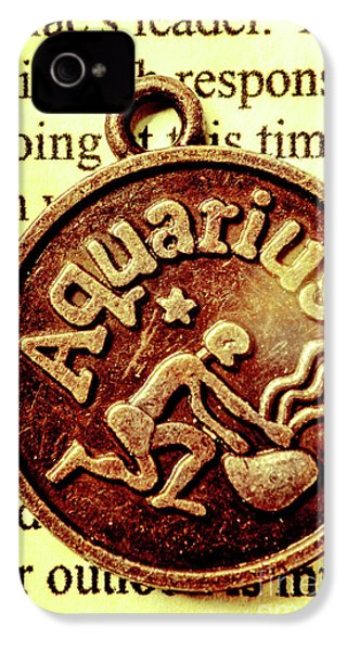 IPhone 4 Case featuring the photograph Aquarius Zodiac Sign by Jorgo Photography - Wall Art Gallery