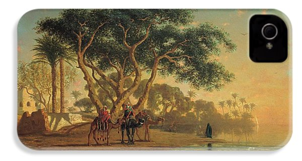 Arab Oasis IPhone 4 Case by Narcisse Berchere