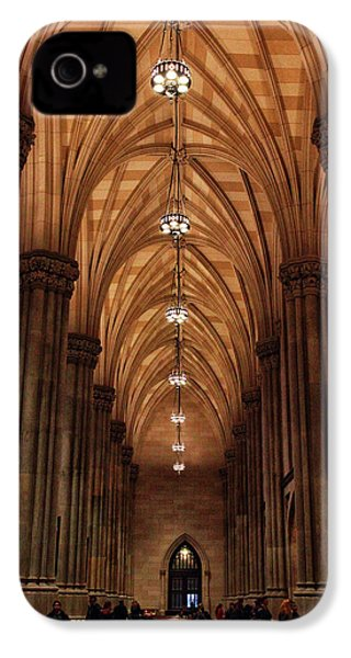 IPhone 4 Case featuring the photograph Arches Of St. Patrick's Cathedral by Jessica Jenney