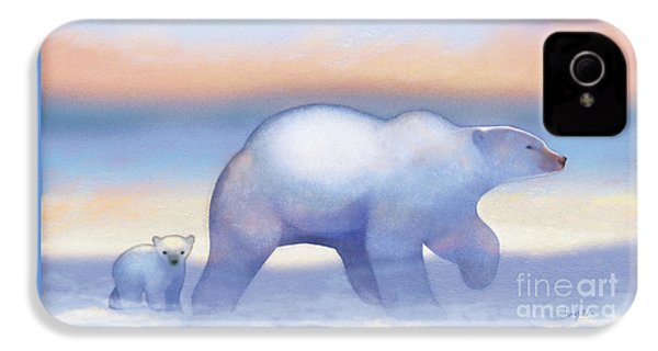 Arctic Bears, Journeys Bright IPhone 4 Case by Tracy Herrmann