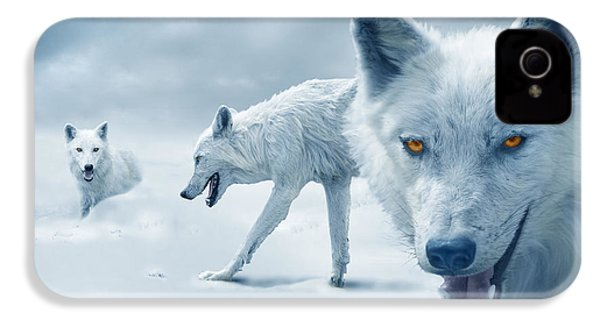 Arctic Wolves IPhone 4 Case by Mal Bray