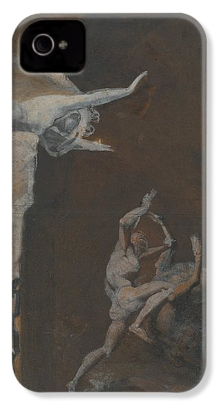 Ariadne Watching The Struggle Of Theseus With The Minotaur IPhone 4 Case by Henry Fuseli