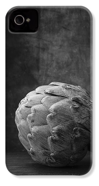 Artichoke Black And White Still Life IPhone 4 Case by Edward Fielding