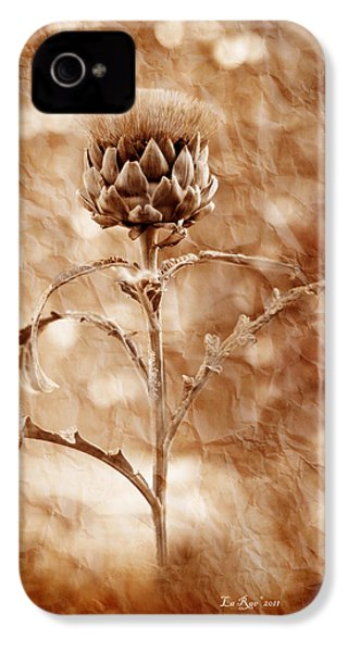 Artichoke Bloom IPhone 4 / 4s Case by La Rae  Roberts