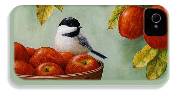 Apple Chickadee Greeting Card 1 IPhone 4 Case