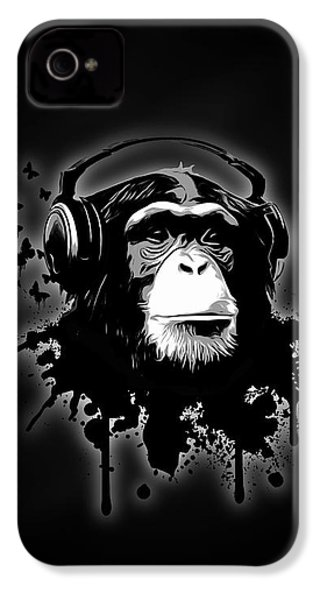Monkey Business - Black IPhone 4 Case by Nicklas Gustafsson