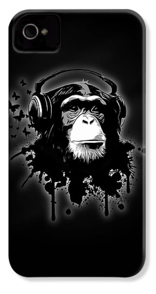 Monkey Business - Black IPhone 4 / 4s Case by Nicklas Gustafsson