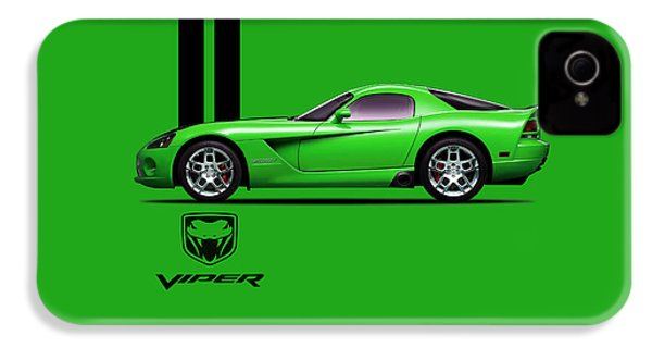 Dodge Viper Snake Green IPhone 4 / 4s Case by Mark Rogan