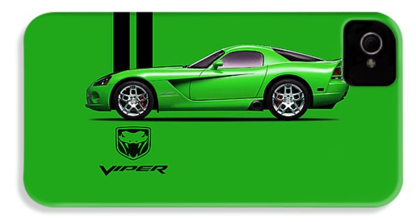 Dodge Viper Snake Green IPhone 4 Case by Mark Rogan