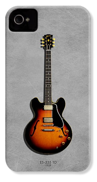 Gibson Es 335 1959 IPhone 4 Case by Mark Rogan