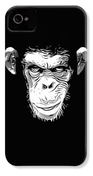 Evil Monkey IPhone 4 Case by Nicklas Gustafsson