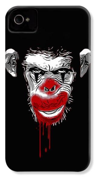 Evil Monkey Clown IPhone 4 Case by Nicklas Gustafsson