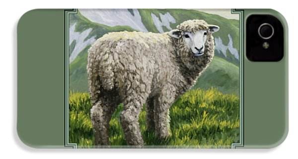 Highland Ewe IPhone 4 Case by Crista Forest