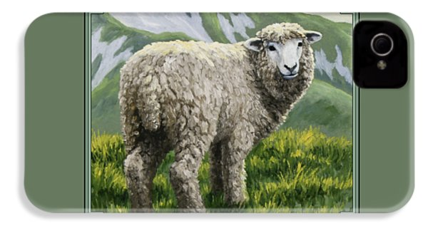 Highland Ewe IPhone 4 / 4s Case by Crista Forest