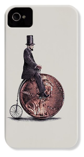 Penny Farthing IPhone 4 / 4s Case by Eric Fan