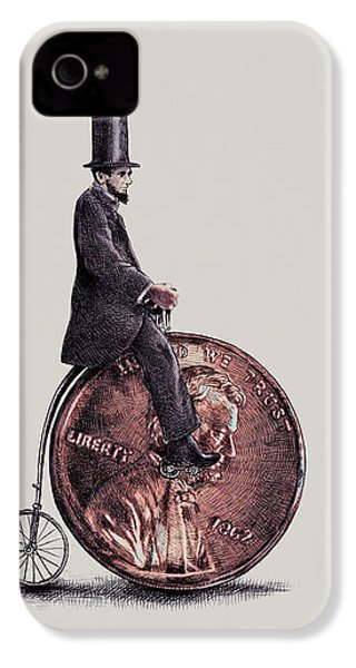 Penny Farthing IPhone 4 Case by Eric Fan