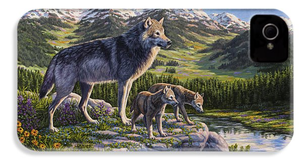 Wolf Painting - Passing It On IPhone 4 / 4s Case by Crista Forest