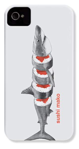 Sushi Mako IPhone 4 Case by Eric Fan