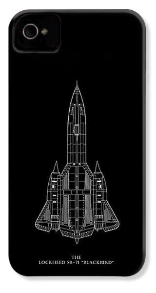 The Lockheed Sr-71 Blackbird IPhone 4 Case by Mark Rogan