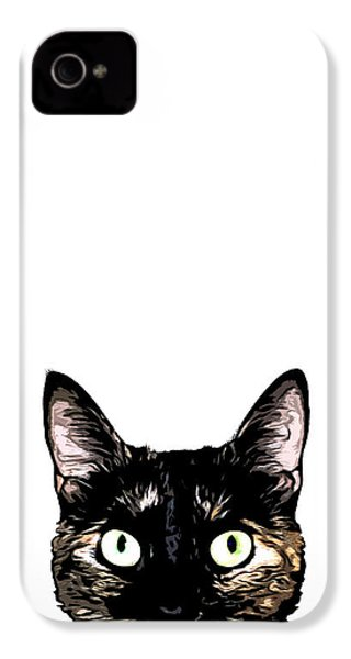 Peeking Cat IPhone 4 Case