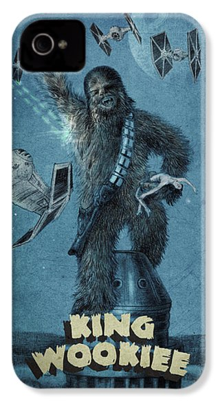 King Wookiee IPhone 4 Case by Eric Fan