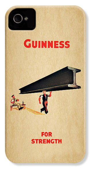 Guiness For Strength IPhone 4 Case by Mark Rogan