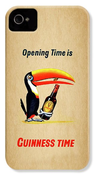 Opening Time Is Guinness Time IPhone 4 Case by Mark Rogan
