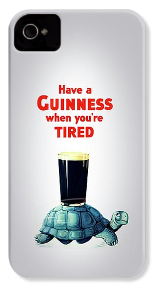 Guinness When You're Tired IPhone 4 Case by Mark Rogan