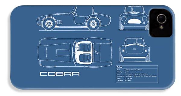 Ac Cobra Blueprint IPhone 4 Case