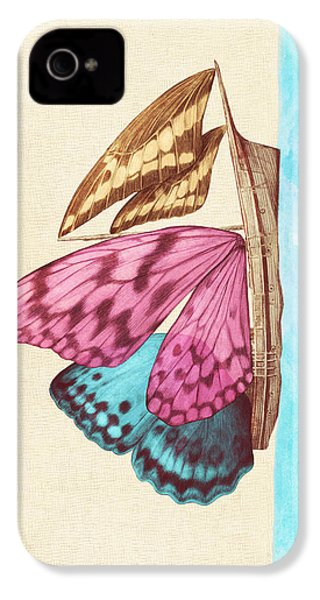 Butterfly Ship IPhone 4 Case by Eric Fan