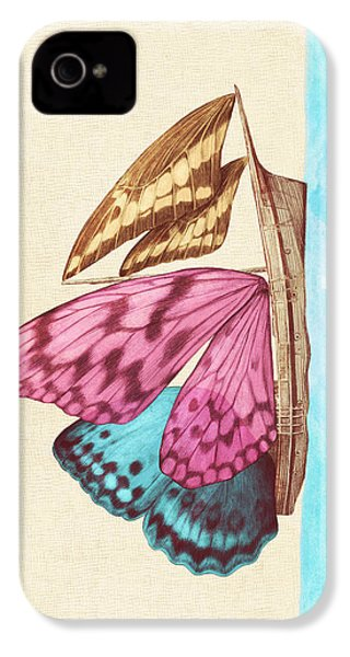Butterfly Ship IPhone 4 Case