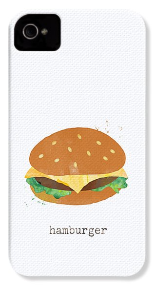 Hamburger IPhone 4 / 4s Case by Linda Woods