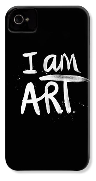 I Am Art- Painted IPhone 4 / 4s Case by Linda Woods