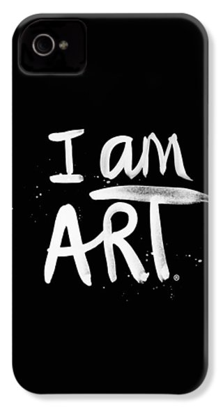 I Am Art- Painted IPhone 4 Case by Linda Woods