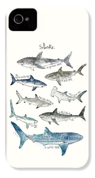 Sharks IPhone 4 Case by Amy Hamilton