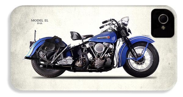 Harley-davidson El 1948 IPhone 4 Case by Mark Rogan